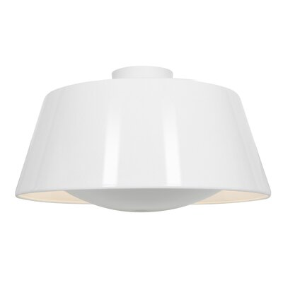 Tylor 3-Light Flush Mount Finish: Glossy White