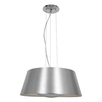 Collina 3-Light Pendant Finish: Brushed Silver