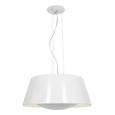 Collina 3-Light Pendant Finish: Glossy White