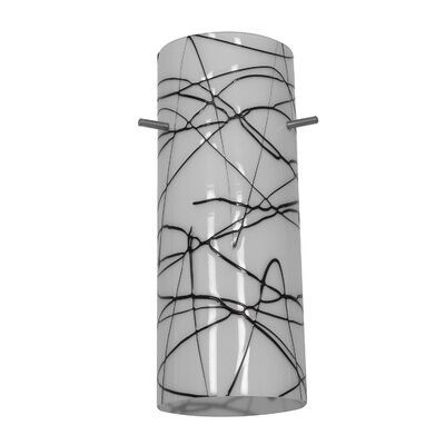 Cylinder 4 Glass Drum Pendant Shade Shade Color: Black and White