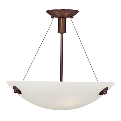 Noya 3-Light Pendant Finish: Bronze, Bulb Type: Halogen, Shade Color: White