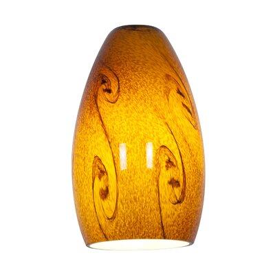 Inari 5 Glass Oval Pendant Shade Shade Color: Amber Sky