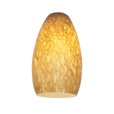 5 Glass Oval Pendant Shade Shade Color: Amber Stone