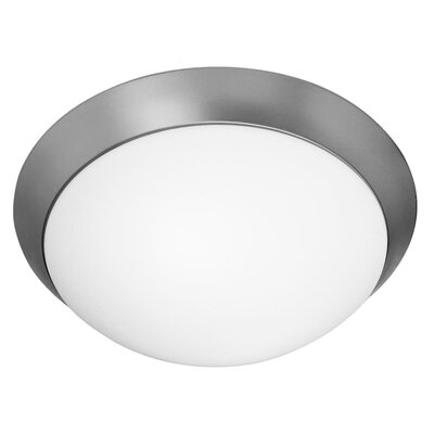 Capp 2-Light Flush Mount Finish: Brushed Steel, Size: 5 H x 15 W x 15 D