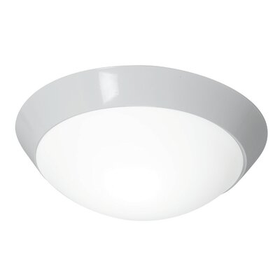 Capp 2-Light Flush Mount Finish: White, Size: 4 H x 13 W x 13 D