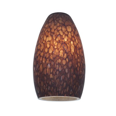 5 Glass Oval Pendant Shade Shade Color: Brown Stone
