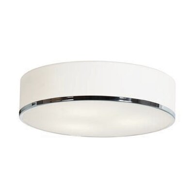 Aero 3-Light Drum Pendant Bulb Type: Incandescent