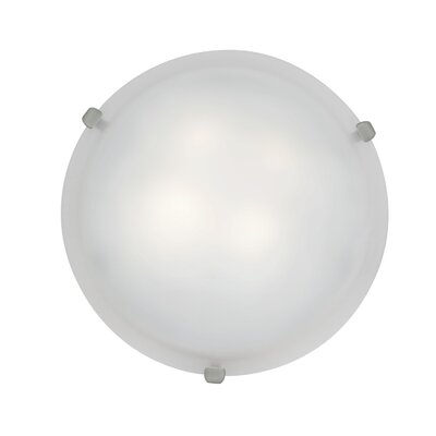 Mona 3-Light Flush Mount Finish: White