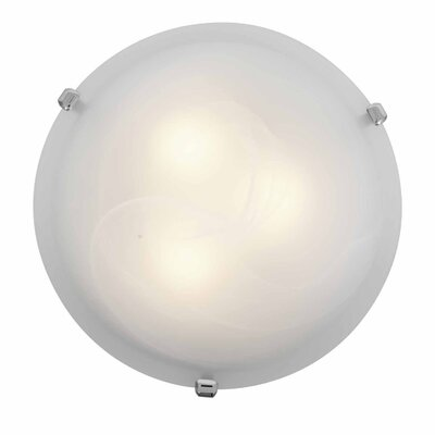Caves 3-Light Flush Mount Finish: Chrome