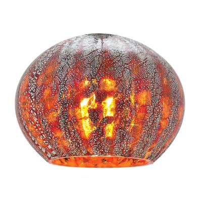 5 Glass Sphere Pendant Shade Color: Red Ribbed Opaline