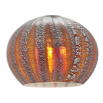 5 Glass Sphere Pendant Shade Color: Silver Amber Ribbed Opaline