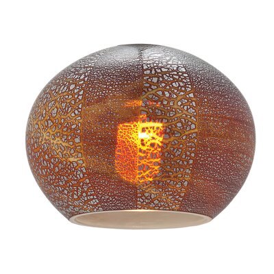 5 Glass Sphere Pendant Shade Color: Silver Amber Opaline
