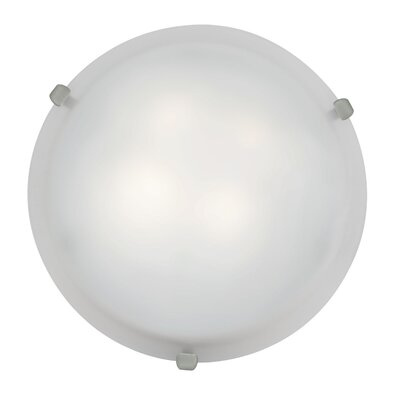 Caves 2-Light Flush Mount Finish: Brushed Steel