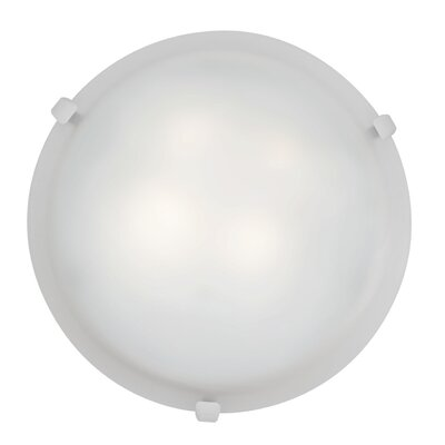 Caves 2-Light Flush Mount Finish: White