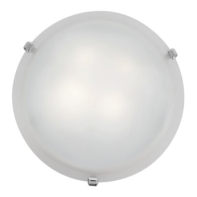 Caves 2-Light Flush Mount Finish: Chrome