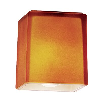 3 Glass Rectangular Pendant Shade Glass Color: Amber
