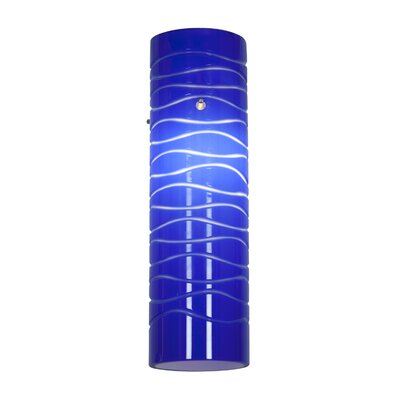 2.5 Glass Drum Pendant Shade Shade Color: Blue Lined