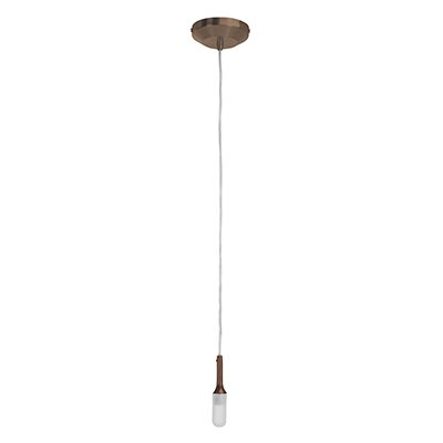 Delta 1-Light Pendant Finish: Bronze