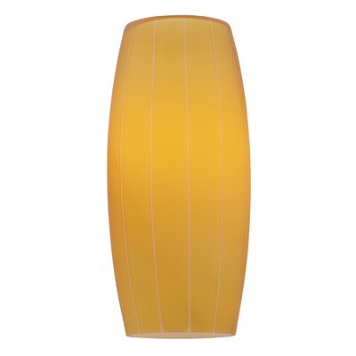 4.75 Glass Oval Pendant Shade Glass Color: Amber