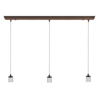 Trinity 3-Light Kitchen Island Pendant Finish: Oil Rubbed Bronze