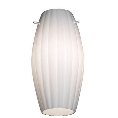Fleur 5.5 Glass Oval Pendant Shade Glass Color: Opal