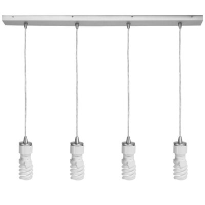Quada 4-Light Kitchen Island Pendant Finish: Brushed Steel