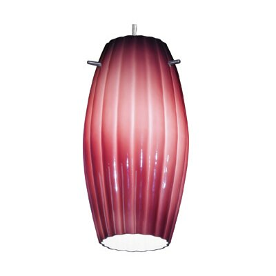 Fleur 5.5 Glass Oval Pendant Shade Glass Color: Plum