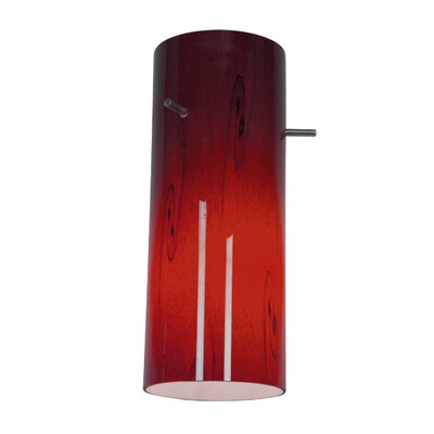 4 Glass Drum Pendant Shade Shade Color: Rusky