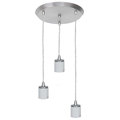 Circ 3-Light Pendant Finish: Brushed Steel