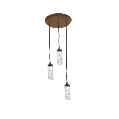 Noonkester 3-Light Abstract Shade Pendant Finish: Oil Rubbed Bronze
