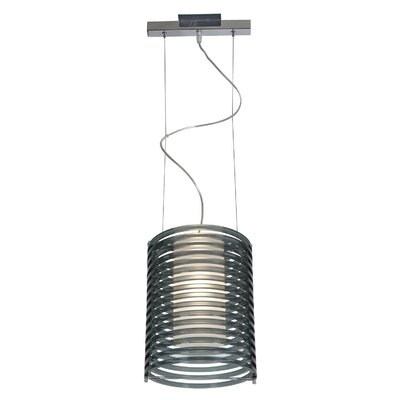 Olivas 1-Light Pendant Shade Color: Smoked Acrylic, Size: 130  H x 10 W x 10 D