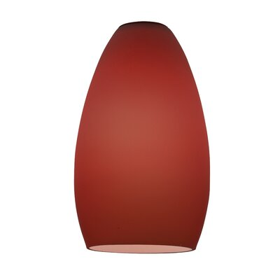 Inari Silk 5 Glass Oval Pendant Shade Shade Color: Plum