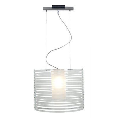 Enzo 1-Light Pendant Shade Color: Acrylic, Size: 130 H x 16.25 W x 16.25 D