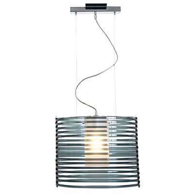 Olivas 1-Light Pendant Shade Color: Smoked Acrylic, Size: 130 H x 16.25 W x 16.25 D