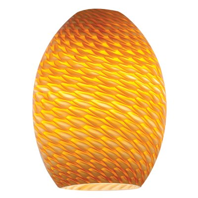 FireBird 6 Glass Oval Pendant Shade Color: Amber Firebird