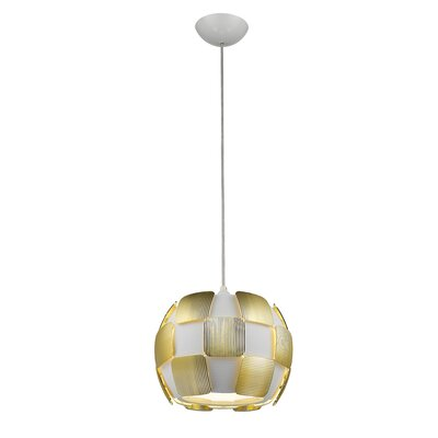 Chadstone 1-Light Drum Pendant Shade Color: Gold