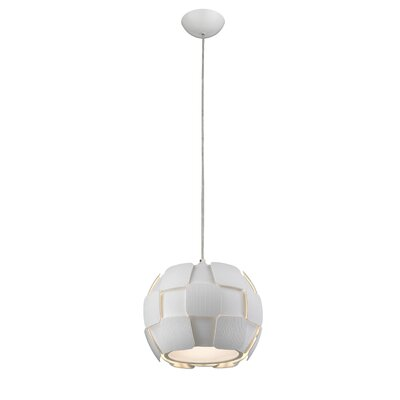 Chadstone 4-Light Drum Pendant Shade Color: White