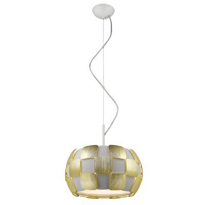 Layers 1-Light Drum Pendant Shade Color: Gold