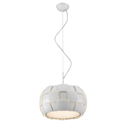 Chadstone 3-Light Drum Pendant Shade Color: White