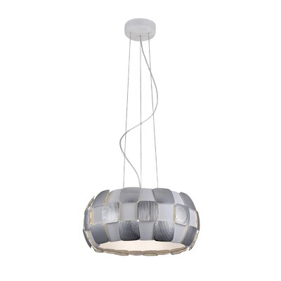 Layers 5-Light Drum Pendant Shade Color: Chrome