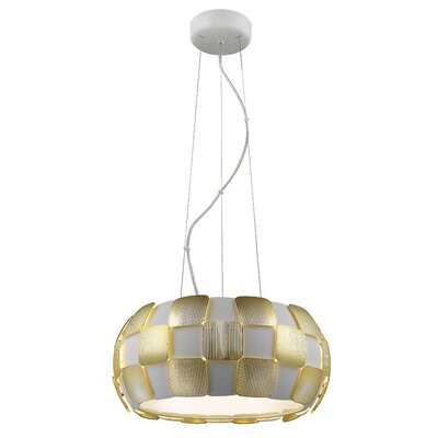 Layers 5-Light Drum Pendant Shade Color: Gold