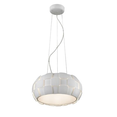 Melvyn 1-Light LED Drum Pendant Shade Color: White
