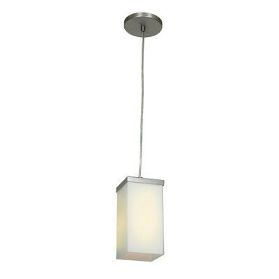 Monhollan 1-Light Mini Pendant Finish: Brushed Steel