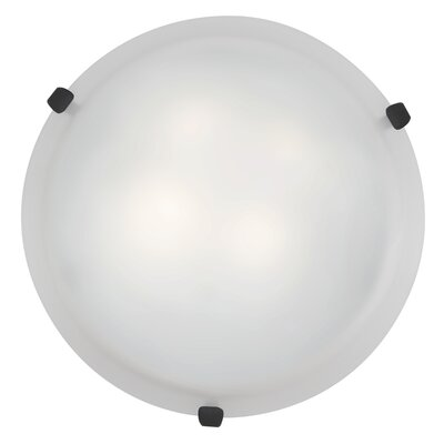Caves 1-Light Flush Mount Finish: Rust, Shade Color: White, Size: 4.25 H x 12 W x 12 D