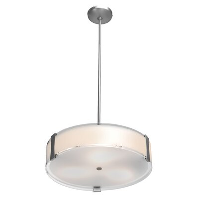 Pastrana 1-Light Drum Pendant Size: 4.75 H x 18 W x 18 D