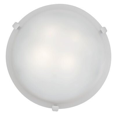 Caves 1-Light Flush Mount Finish: White, Shade Color: White, Size: 4.25 H x 12 W x 12 D
