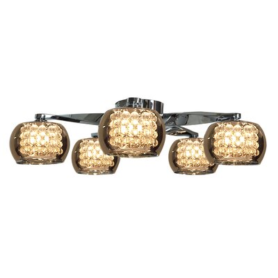 Glam 5-Light Semi-Flush Mount