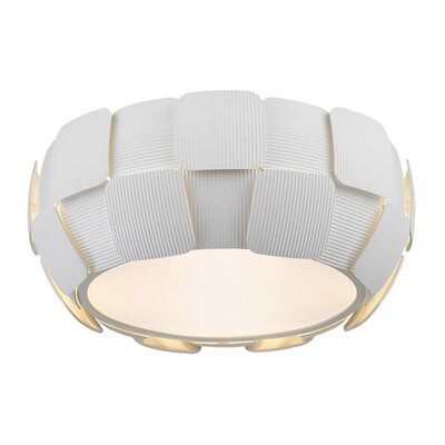 Chadstone 4-Light Flush Mount Finish: White, Size: 6.3 H x 14 W x 14 D