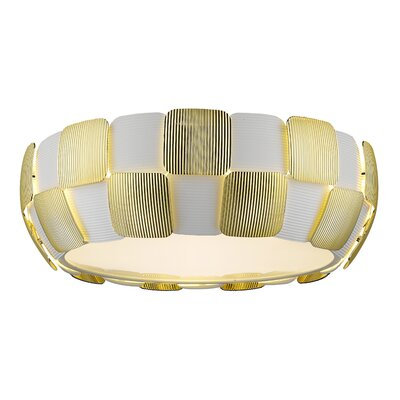 Chadstone 4-Light Flush Mount Finish: Gold, Size: 6.3 H x 18 W x 18 D