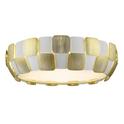 Melvyn 6-Light Flush Mount Finish: Gold